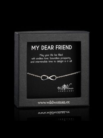 """Best friend infinity silver bracelet """"Wishes"""""""