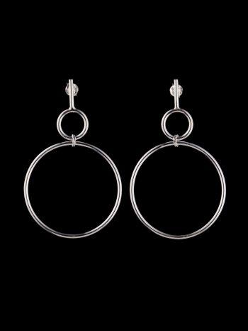 Silver earrings ⌀ 11x35mm