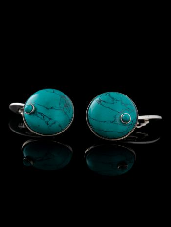 Turquoise Silver Cufflinks