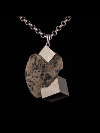 Pyrite Silver Pendant