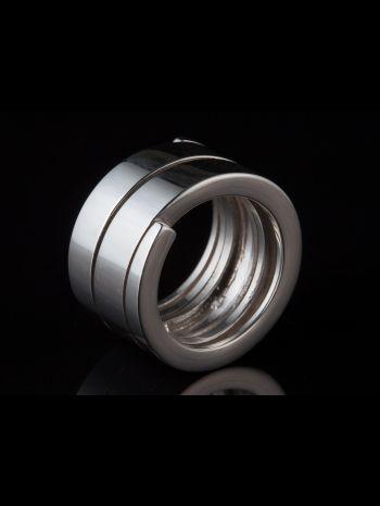 Modern Men Silver Ring