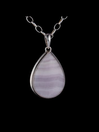 Aragonite Silver Pendant