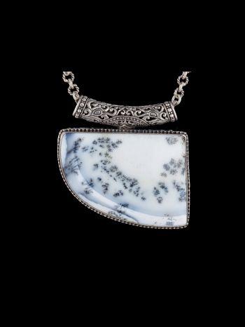 Dendrite Agate Silver Pendant