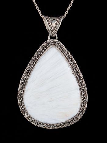 Scolesite Silver Pendant