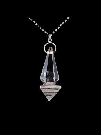 Crystal silver pendant