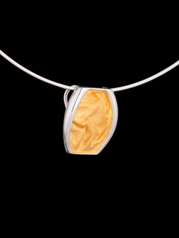 Silver and 14K gold plated pendant