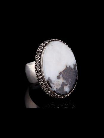 Dendrite Agate Silver Ring