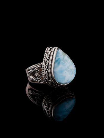 Larimar Silver Ring