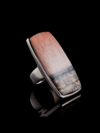 Celestobarite silver ring