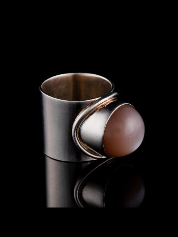 Indian Moonstone silver ring