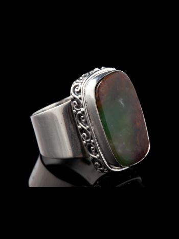 Chrysoprase Silver Ring
