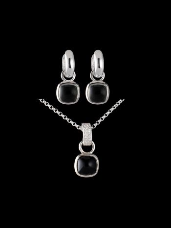 GREEN AMETHYST SILVER JEWELRY SET (MIX AND MATCH)