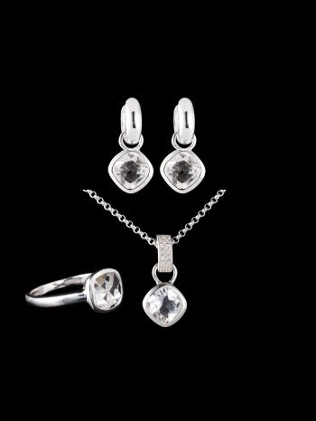 CRYSTAL SILVER JEWELRY SET (MIX AND MATCH)