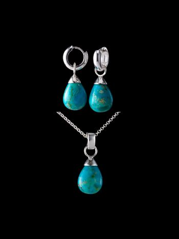 TURQUOISE SILVER JEWELRY SET (MIX AND MATCH)