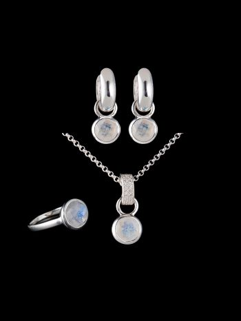 Moonstone silver jewelry set (mix and match)