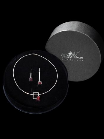 Silver Jewellery I AM WORTHY in a Gift Box – as a set 252,90€