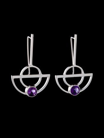 """""""Oneness"""" earrings with Amethyst"""