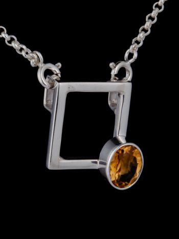 """""""I am worthy"""" silver pendant"""