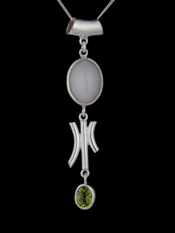 """""""Intuition"""" silver pendant"""
