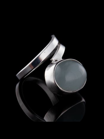 """Intuition"" aquamarine silver ring"