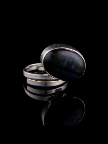 Pietersite silver ring