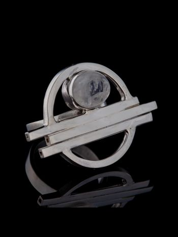 """""""Oneness""""! Moonstone Silver Ring"""
