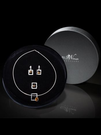 """I'M WORTHY"" Citrine Jewellery Set in a Gift Box 311,40 €"
