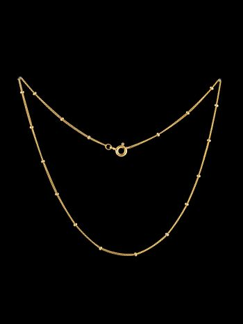 Thin gold plated silver chain