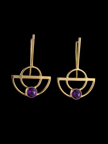 """""""Oneness"""" gold plated silver earrings"""
