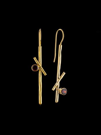 """Gold plater """"Wise Rebel"""" silver earring"""