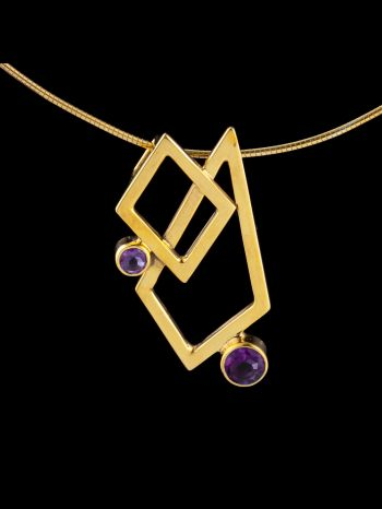 """""""Passion"""" gold plated silver pendant"""