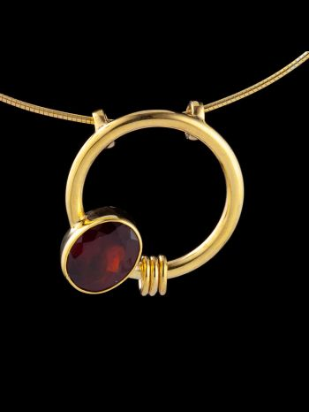 """""""sensuality"""" gold plated silver pendant"""