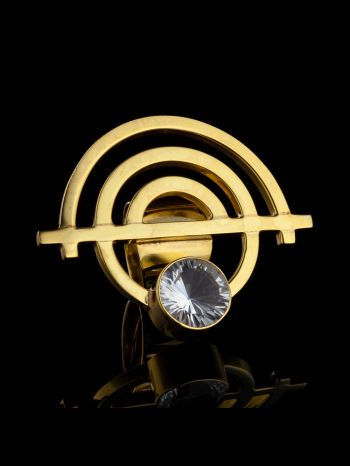 """""""Oneness"""" gold plated silver ring"""