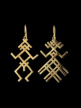 """""""Affinity"""" Gold plated silver earrings"""