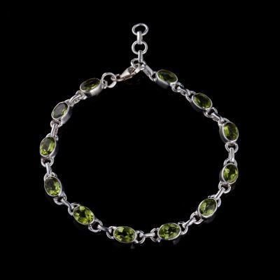 Peridot silver bracelet