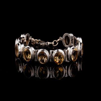Citrine silver bracelet