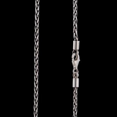 Thin fishtale silver chain