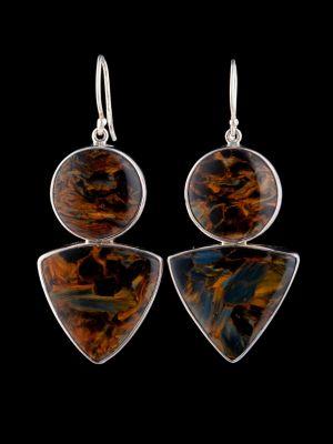 Pietersite Silver Earrings