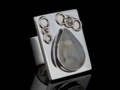 Moonstone Silver Ring