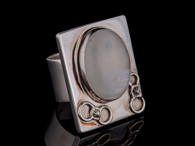 Selenitesilver Ring