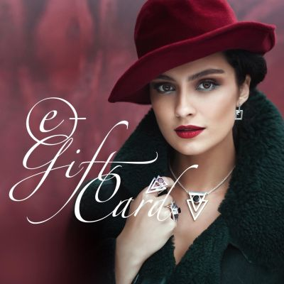 Electronic gift card for woman