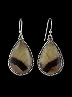 Septarian Silver Earrings