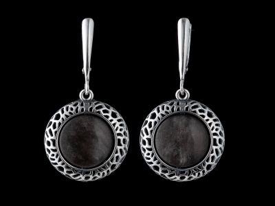 Obsidian Silver Earrings