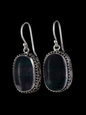Fluorite Silver Earrings