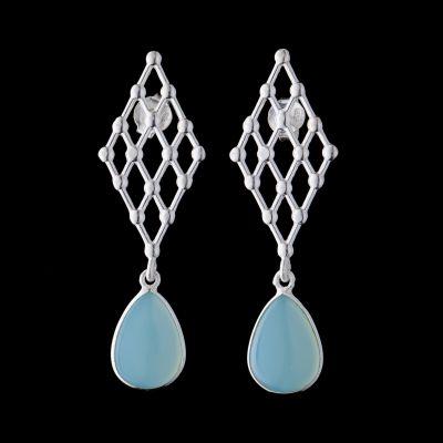 Chalchedon silver earrings