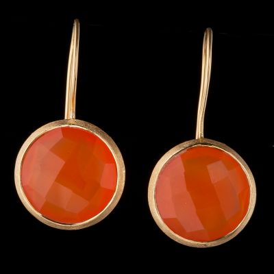 Carnelian 14K Gold Earrings