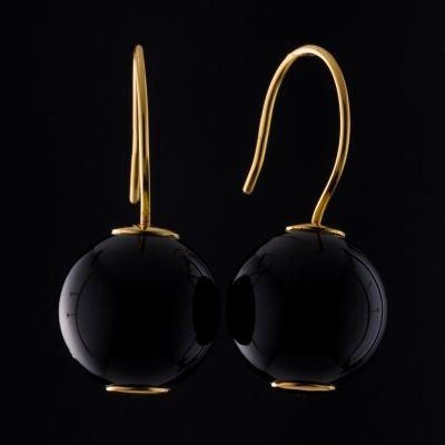 Onyx 14K Gold earrings