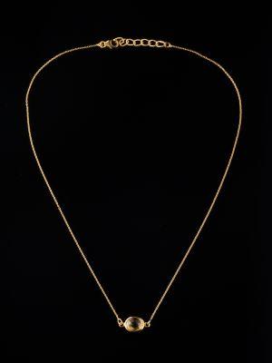 Citrine 14K Gold Pendant-Necklace