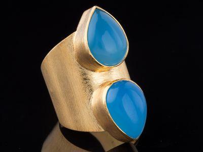 Chalcedony 14K Gold Ring