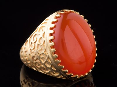 Carnelian 14K Gold Ring